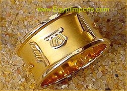 Gold Cartouche Ring